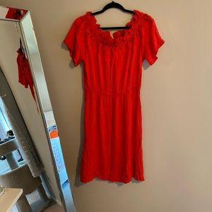 H&M Red Midi Dress 12